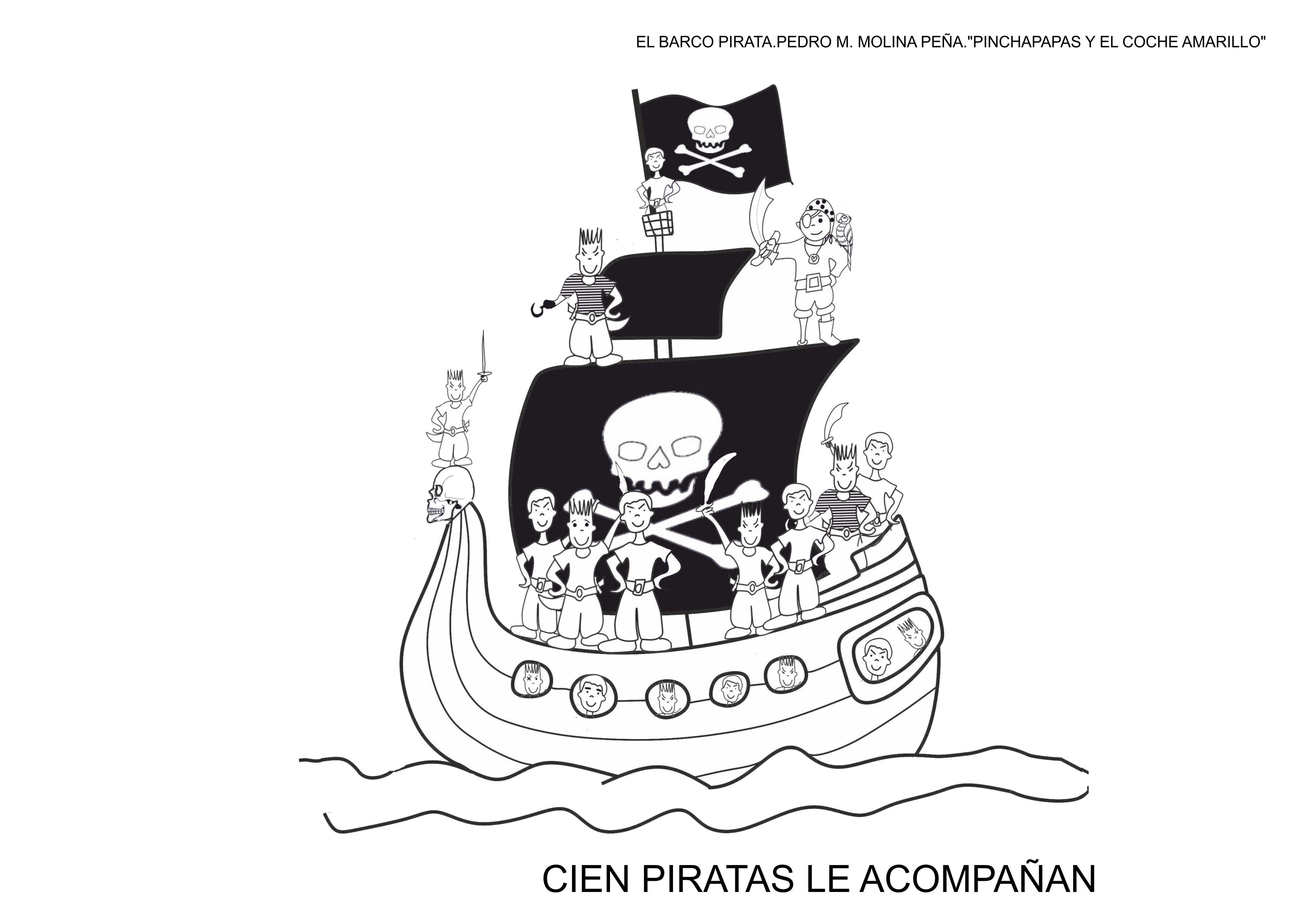 fichas para colorear el barco pirata carnaval 9  Orientacin