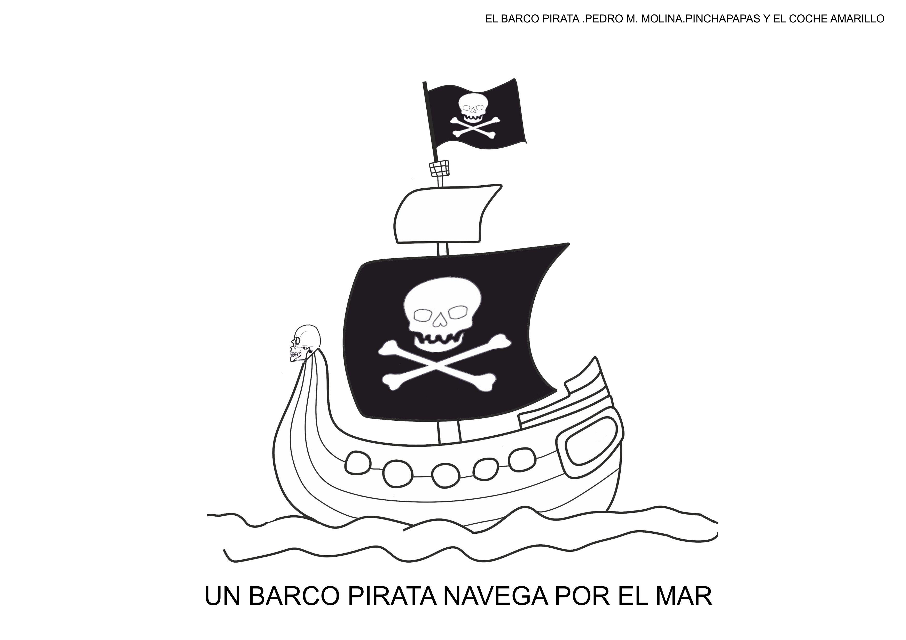 fichas para colorear el barco pirata carnaval  Orientacin