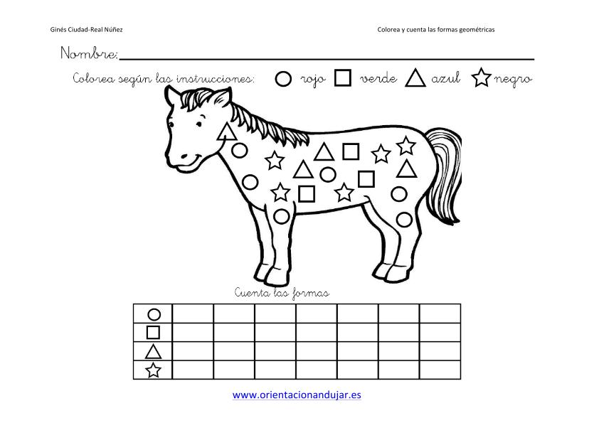 Colorea Y Cuenta Las Formas Geometricas Con Animales Imagenes6