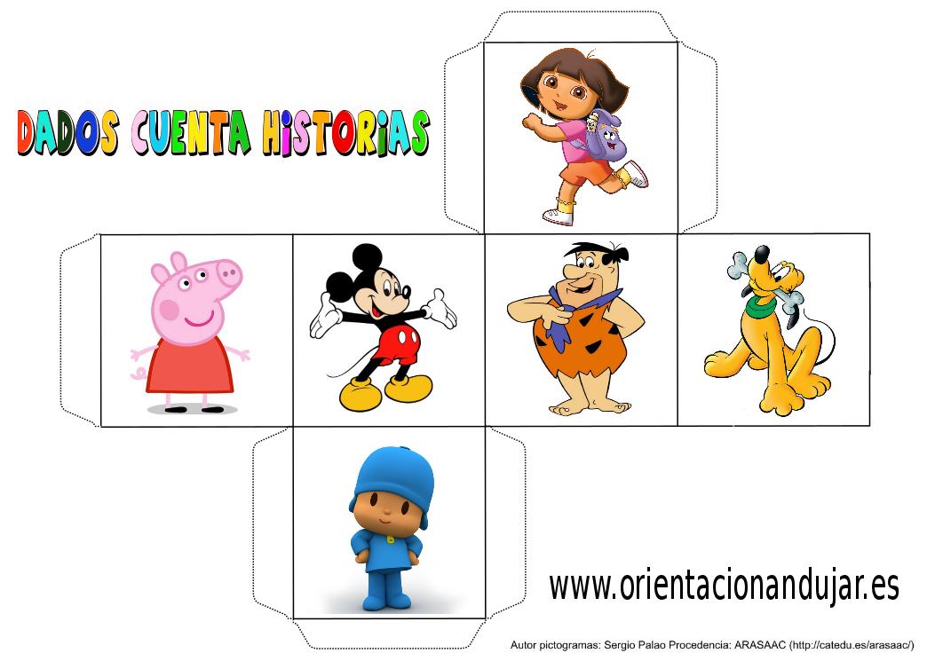 cubo para contar historias color dibujos animados 1 - Orientación ...