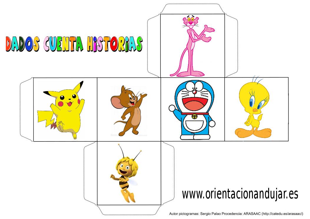 cubo para contar historias color dibujos animados 2 - Orientación ...