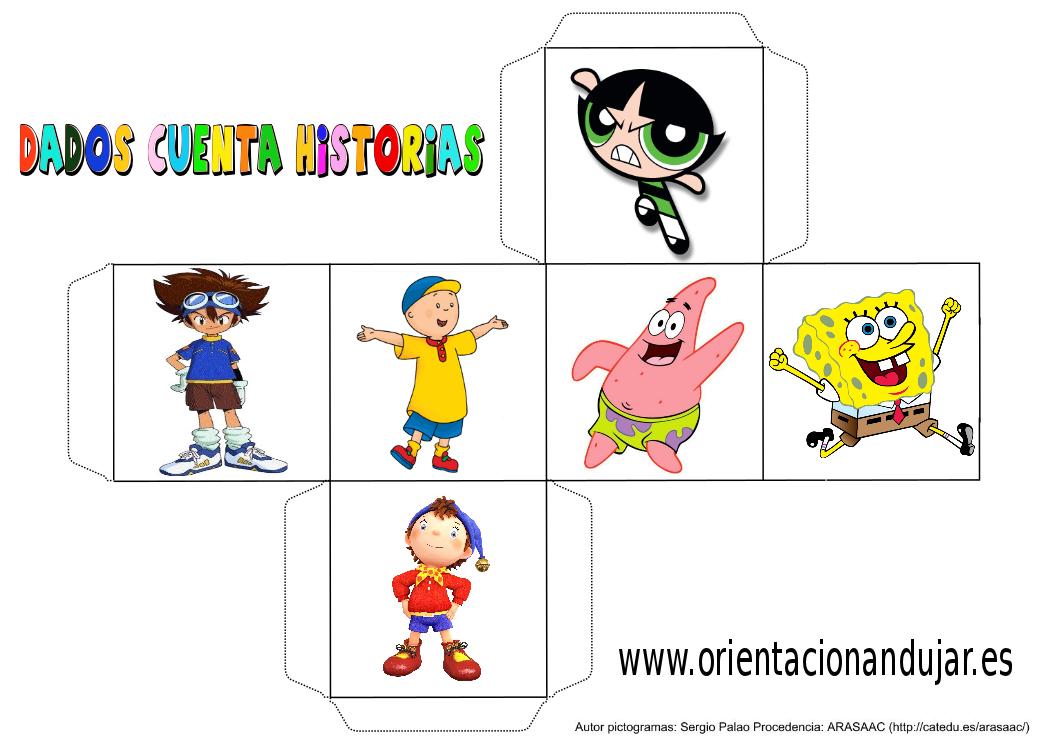 cubo para contar historias color dibujos animados 3 - Orientación ...