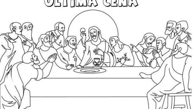 Dibujos Para Colorear De La Ultima Cena La Ultima Cena Para