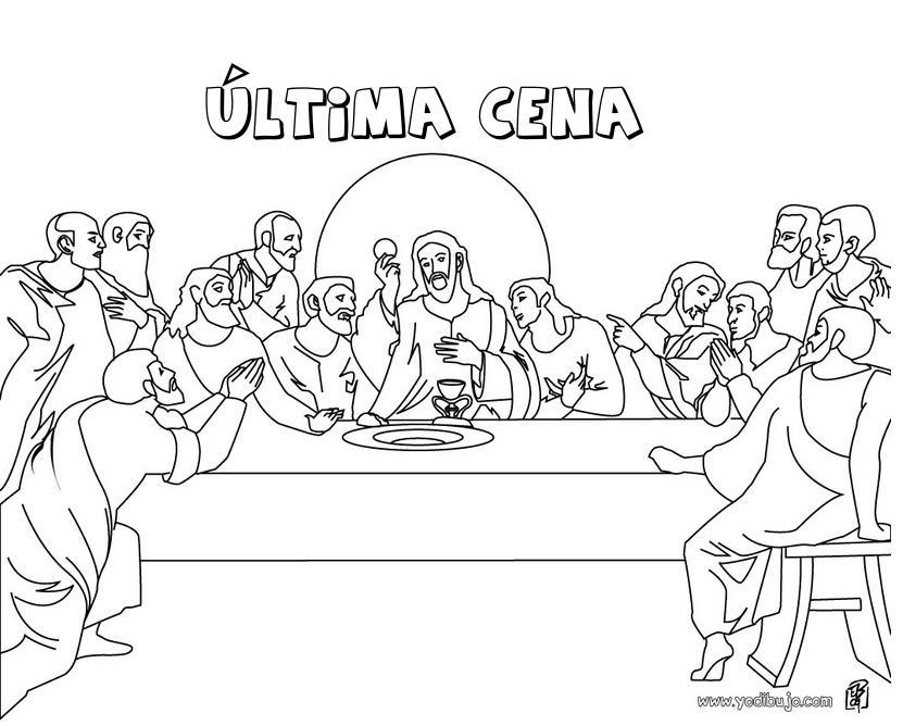 Magnífico última Cena Para Colorear Ilustración - Ideas Para ...