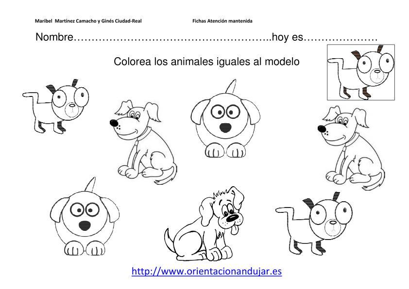 GEA EDUCADORES: Trabajamos la atención Colorea el animal igual al ...