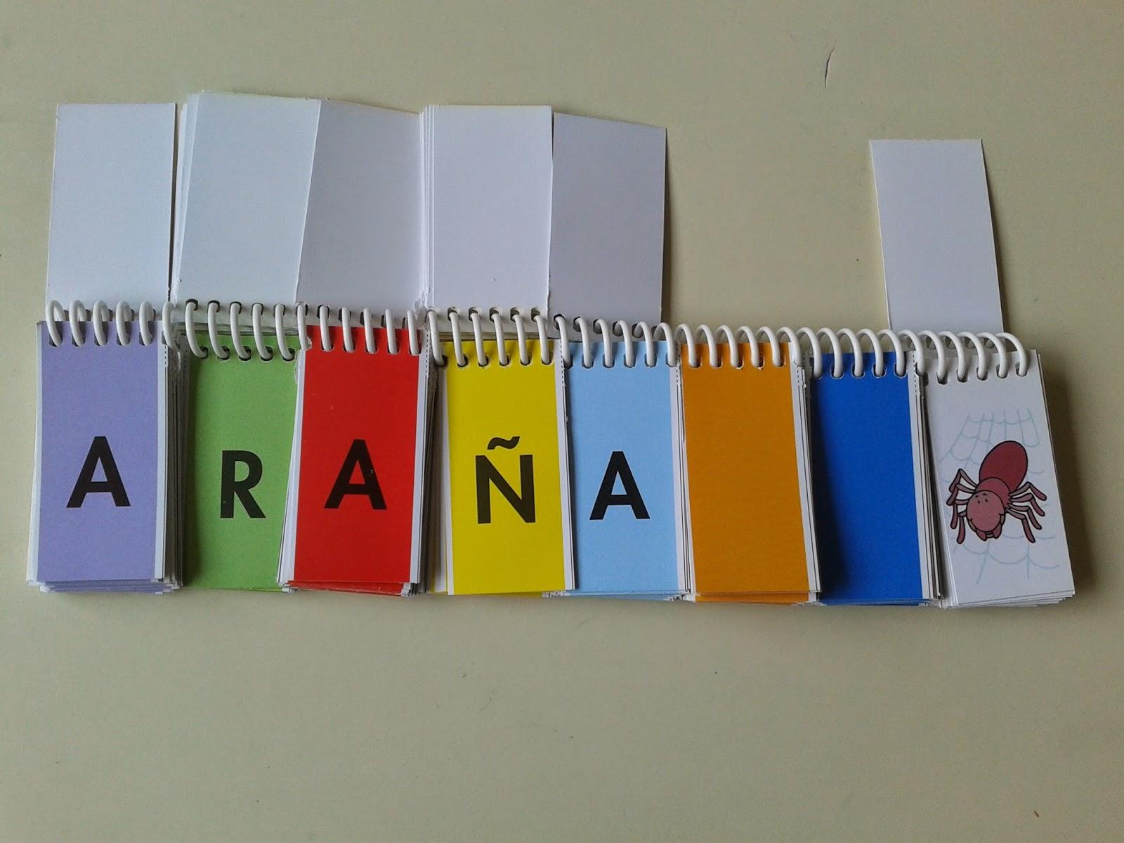 La lectoescritura el libro m vil de letras para formar for Paredes sensoriales