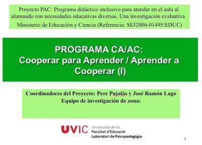Pere Pujolàs cooperar para aprender