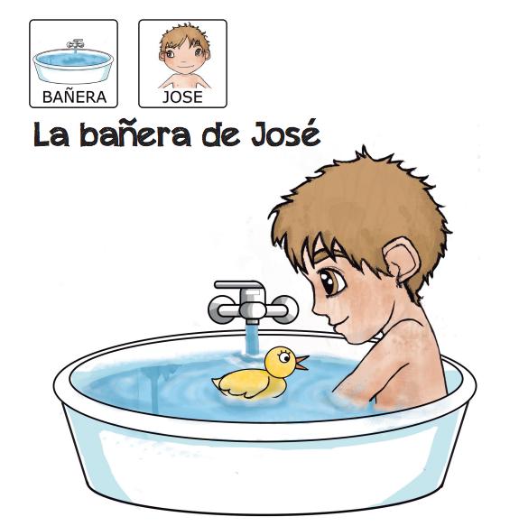El Baño Cuento Infantil:Cuentos para niños con pictogramas TEA ACNEAE la bañera