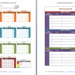 CALENDARIO Y TEMPORALIZACION SECUNDARIA