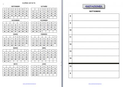 Cuaderno de trabajo, memonotas, registros de evaluación, etc 2014-2015 IMAGEN 3