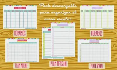 Pack para organizar el curso escolar  del blog Lluvia de Ideas imagen 1