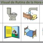muestra visual rutina dormir TEA