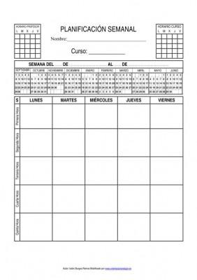 planificador semanal educacion primaria 2014 imagen