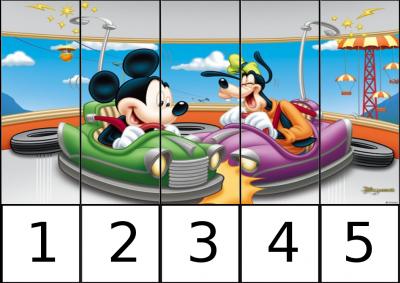 puzle de numeros 1-5 disney 1