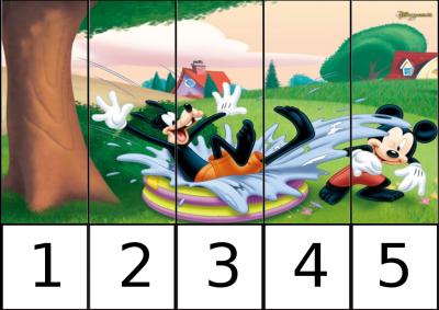 puzle de numeros 1-5 disney 2