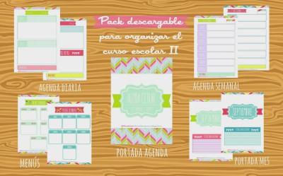 2º Pack para organizar el curso escolar del blog Lluvia de Ideas