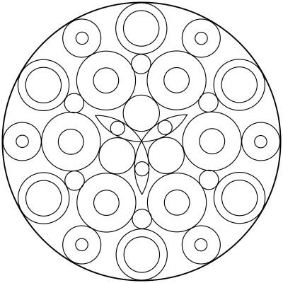 Mandala  de circulos 8