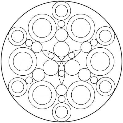 Mandala  de circulos 9