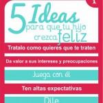 POSTER 5 ideas para que tu hijo crezca feliz