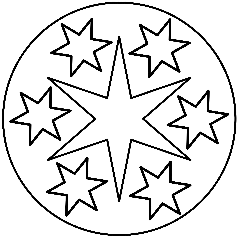 mandalas de estrellas para trabajar la creatividad y la