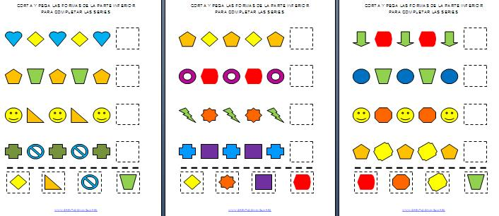 Corta y pega las formas 6 formas editable orientaci n and jar recursos educativos - Colores para la concentracion ...