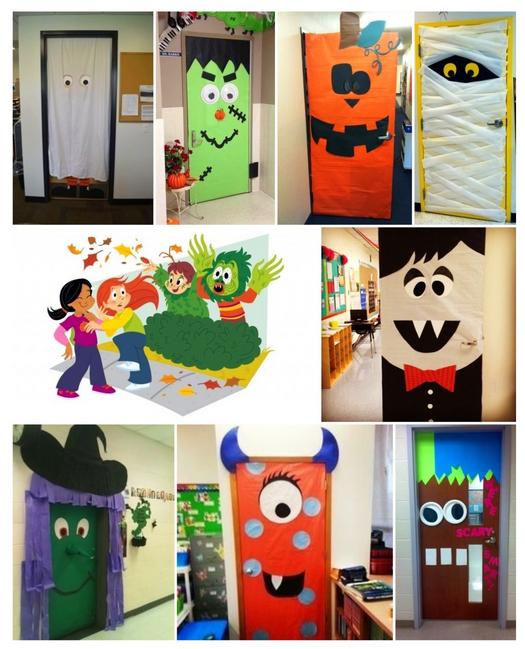 Ideas para decorar tu clase en halloween nuestra puerta for Ideas decoracion navidad colegio