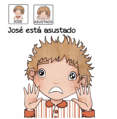 Cuentos para niños con pictogramas TEA ACNEAE EMOCIONES JOSE ESTA ASUSTADO