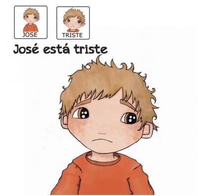 Cuentos para niños con pictogramas TEA ACNEAE EMOCIONES JOSE ESTA TRISTE