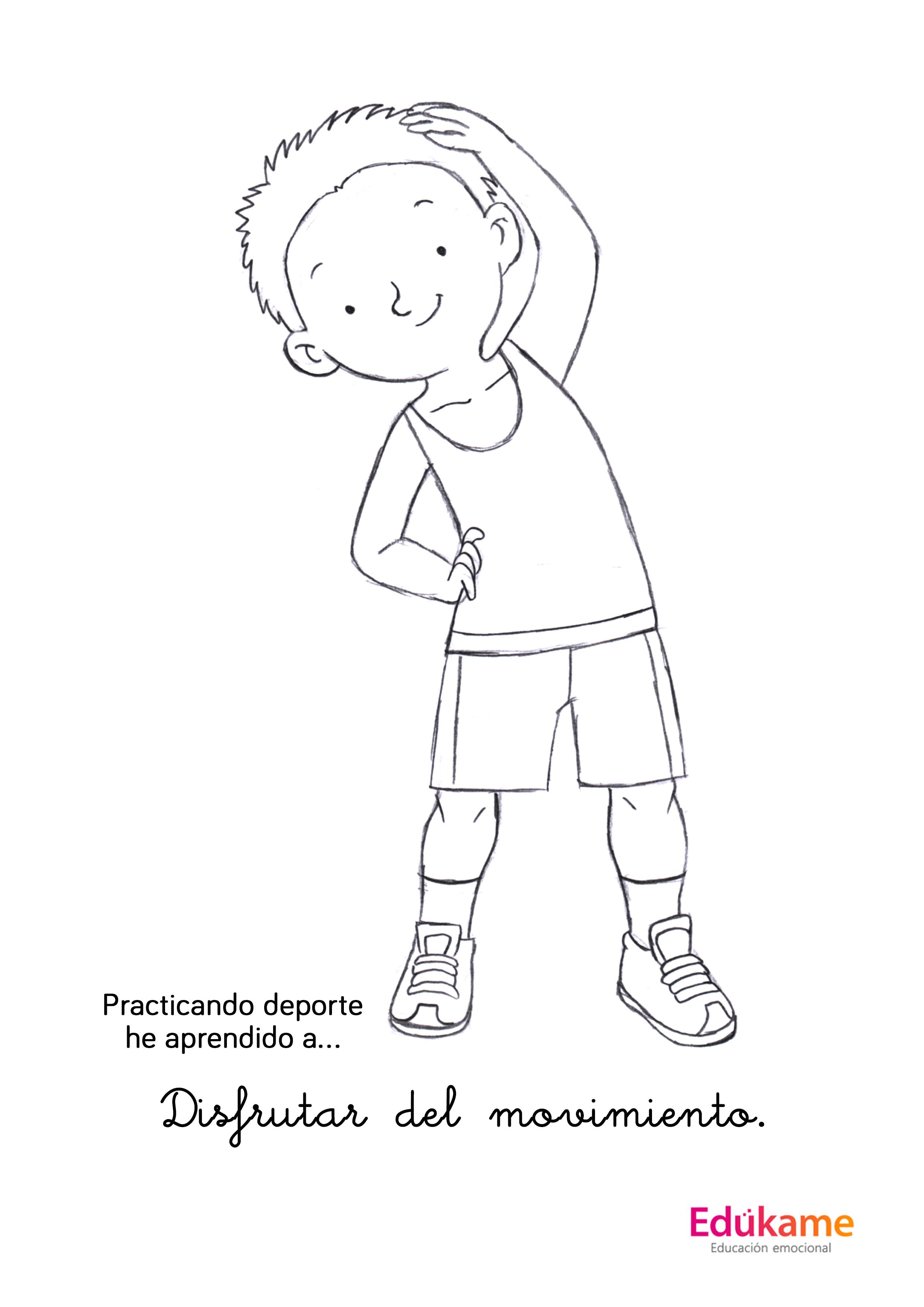 Lujo Niños Deportes Para Colorear Adorno - Dibujos Para Colorear En ...
