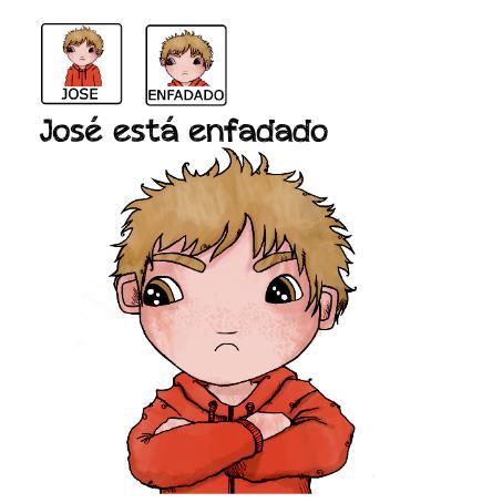 Cuentos para niños con pictogramas TEA ACNEAE EMOCIONES JOSE ESTA ENFADADO