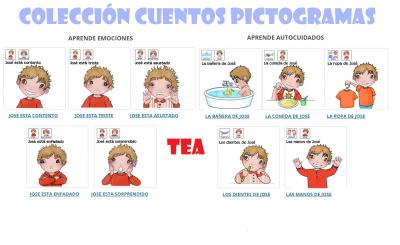 Autismo ACNEAE Colección de cuentos con pictogramas Aprendemos