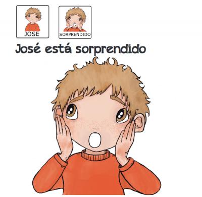 Cuentos para niños con pictogramas TEA ACNEAE EMOCIONES JOSE ESTA SORPRENDIDO