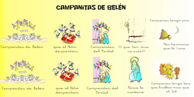 Villancico original Campanitas de Belén  video, audio, letra y musicograma