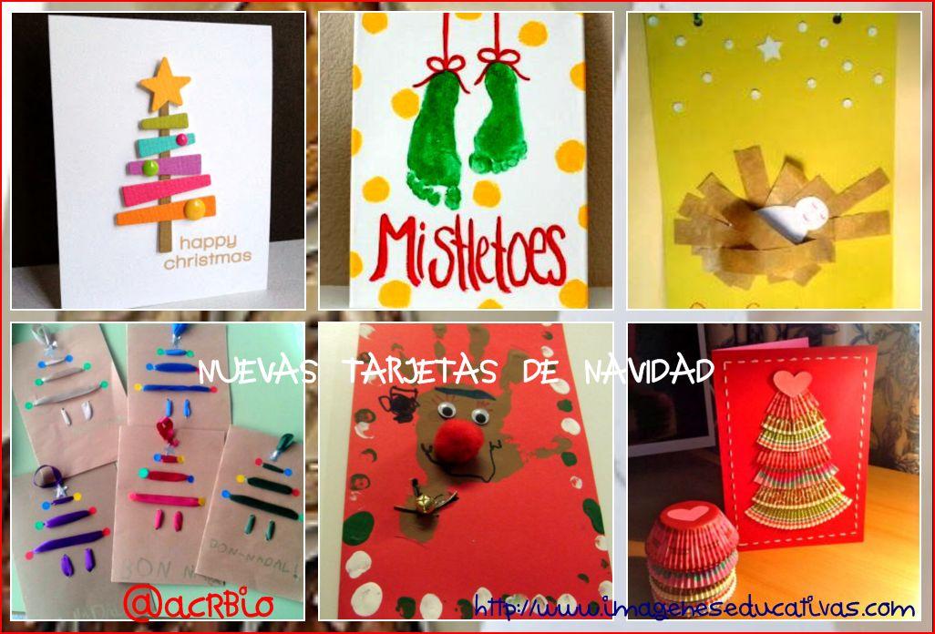 Postales De Navidad Infantiles Hechas Por Niños | Bernadettes