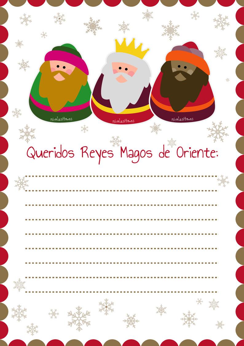 Recopilatorio de diseos de cartas para los Reyes Magos