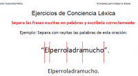 Conciencia léxica: capacidad para identificar y manipular las palabras que componen una frase. Segmentación: La segmentación y conciencia léxica se define como la capacidad para percibir que una oración o […]