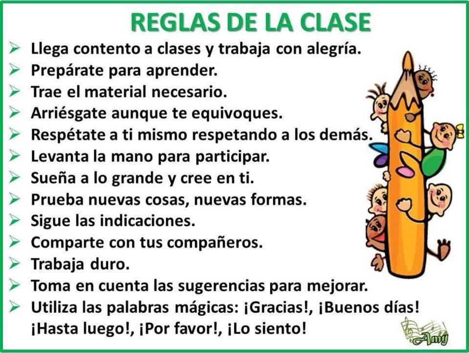 Cartel imprimible con las normas de clase for Actividades para el salon de clases de primaria