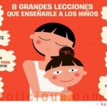8 grandes lecciones que enseñarle a un niño portada