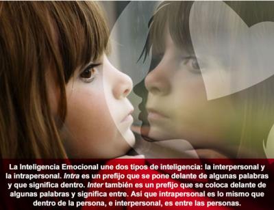 INTELIGENCIA INTRAPERSONAL-INTERPERSONAL EMOCIONAL