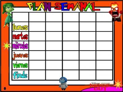PLanificadores semanales 5 tareas INSIDE OUT Inicio de Curso 3