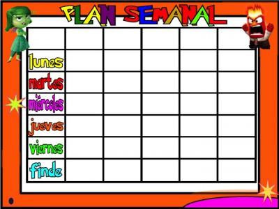 PLanificadores semanales 5 tareas INSIDE OUT Inicio de Curso 4