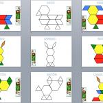 Trabajamos la atención con Pattern Block Mats o Teselas de colores 1