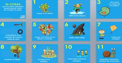 Todo niño tiene que hacer antes de crecer estas 26 cosas