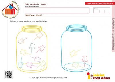 Colección de ficha para trabajar razonamiento Lógico matemático educación Infantil13