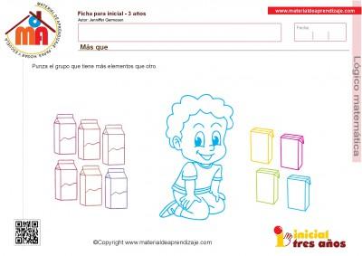 Colección de ficha para trabajar razonamiento Lógico matemático educación Infantil19