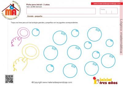 Colección de ficha para trabajar razonamiento Lógico matemático educación Infantil5