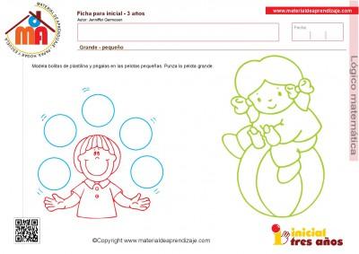 Colección de ficha para trabajar razonamiento Lógico matemático educación Infantil6
