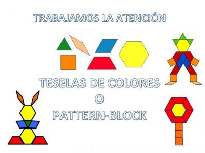 Trabajamos la atención con Pattern Block Mats o Teselas de colores 2