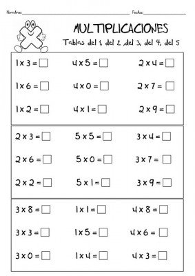 TRABAJAMOS LAS TABLAS DE MULTIPLICAR 10