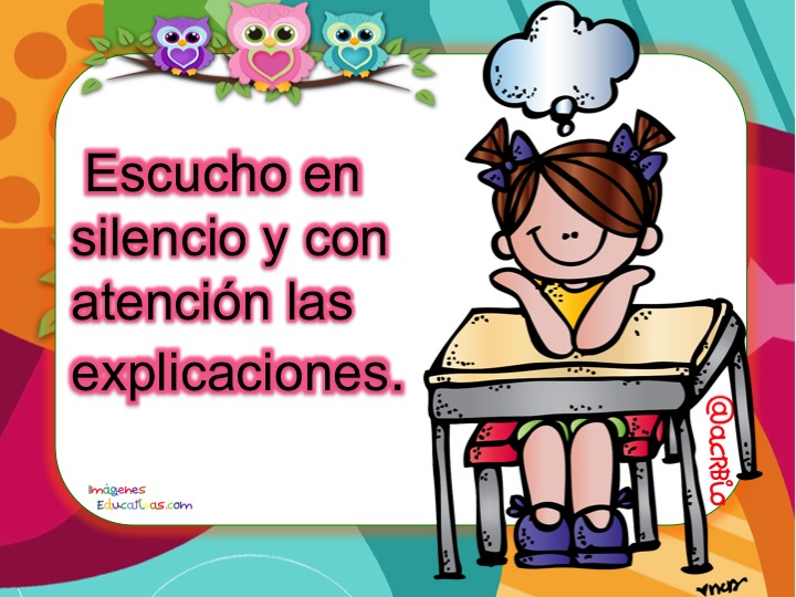 Normas de convivencia escolar carteles19 orientaci n for Como mantener silencio en un comedor escolar